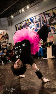 Breakdancer Invertebrate rocks a tutu with style