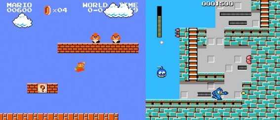 Mario and Mega Man point systems