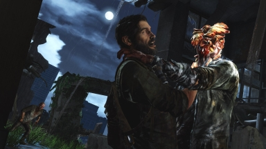 In The Last of Us, the player mows down waves of monsters to survive, which aligns with the game's survivalist themes.
