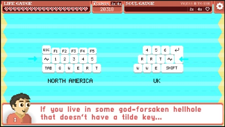 In Icarus Proudbottom Teaches Typing, the tilde key is kind of important.