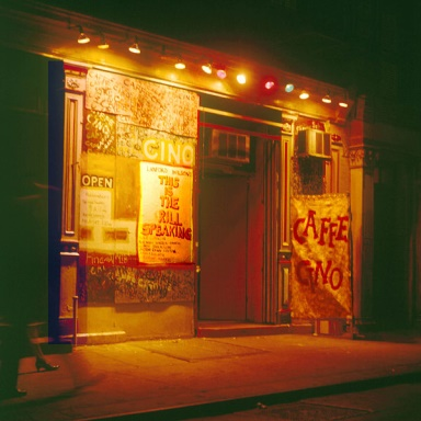 Caffe Cino in the '60s. The coffeehouse exerted an irresistible pull on fringe theater elements that helped spawn the Off Off Broadway movement. Photo: James D. Gossage