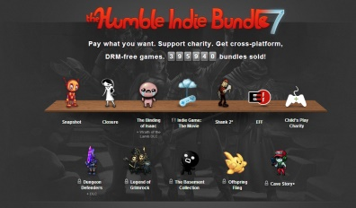 The Humble Bundle temporary bands indie games together into appealing purchasing propositions.