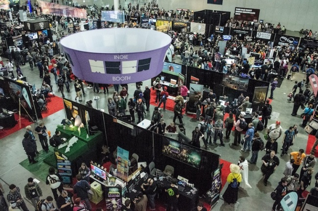 The Indie MEGABOOTH at PAX East 2013.